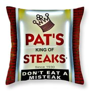 No Misteaks Throw Pillow by Benjamin Yeager