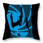 No024 My Dr No James Bond minimal movie poster Throw Pillow by Chungkong Art