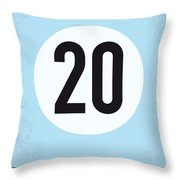 No038 My Le Mans Minimal Movie Poster Throw Pillow by Chungkong Art