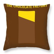 No149 My willy wonka and the chocolate factory minimal movie poster Throw Pillow by Chungkong Art
