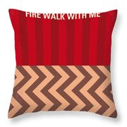 No169 My Fire Walk With Me Minimal Movie Poster Throw Pillow by Chungkong Art