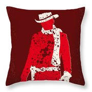 No184 My Django Unchained minimal movie poster Throw Pillow by Chungkong Art