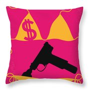 No218 My SPRING BREAKERS minimal movie poster Throw Pillow by Chungkong Art