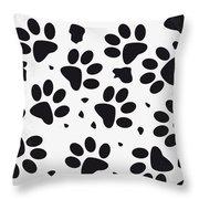 No229 My 101 Dalmatians minimal movie poster Throw Pillow by Chungkong Art