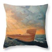 Noah's Ark Throw Pillow by Clay Hibbard