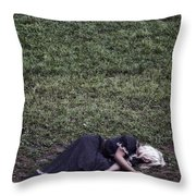 Nobody Wants To Play With Me Throw Pillow by Joana Kruse