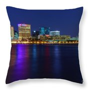 Norfolk Waterside Throw Pillow by Ava Reaves