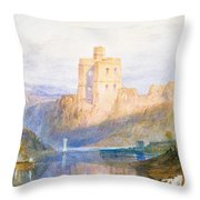 Norham Castle An Illustration To Marmion By Sir Walter Scott Throw Pillow by Joseph Mallord William Turner