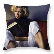 Norma Jeane Baker Throw Pillow by Reggie Duffie