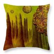Norovirus In Small Intestine Throw Pillow by Carol and Mike Werner