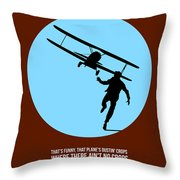 North By Northwest Poster 2 Throw Pillow by Naxart Studio