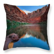 North Canyon Number 1 Throw Pillow by Inge Johnsson