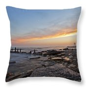 North Point Sunset Throw Pillow by CJ Schmit
