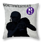 Northwestern Football Throw Pillow by David Dehner