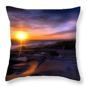 Norwegian Sunset Throw Pillow by Bruce Nutting