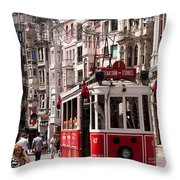 Nostalgic Tram 01 Throw Pillow by Rick Piper Photography