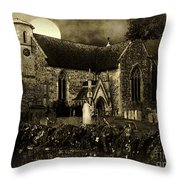 Not A Creature Was Stirring Throw Pillow by RC DeWinter