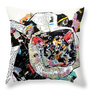 Not For Milkin Throw Pillow by Bri Buckley