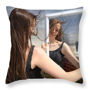 Not Pretty Enough Throw Pillow by Linda Lees