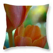 Nothing As Sweet As Your Tulips Throw Pillow by Donna Blackhall