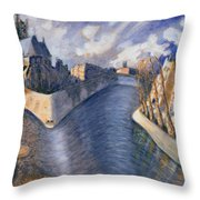 Notre Dame Cathedral Throw Pillow by Charlotte Johnson Wahl