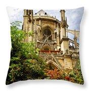 Notre Dame De Paris Throw Pillow by Elena Elisseeva