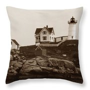 NUBBLE LIGHT Throw Pillow by Skip Willits