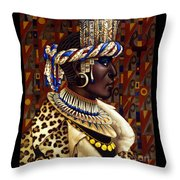 Nubian Prince Throw Pillow by Jane Whiting Chrzanoska