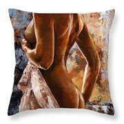 Nude 07 Throw Pillow by Emerico Imre Toth