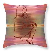 Nude 12 Throw Pillow by Patrick J Murphy