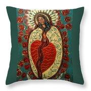 Nuestra Senora De Guadalupe Throw Pillow by Maya Telford