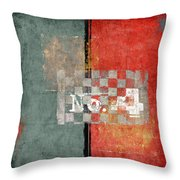 Number 4 Throw Pillow by Carol Leigh