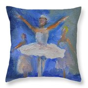 Nutcracker Ballet Throw Pillow by Donna Tuten