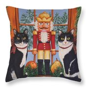 Nutcracker Sweeties Throw Pillow by Beth Clark-McDonal