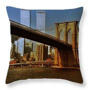 Nyc 1976 Throw Pillow by Benjamin Yeager