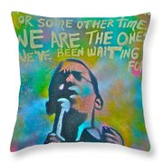 Obama In Living Color Throw Pillow by Tony B Conscious