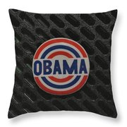 Obama Throw Pillow by Rob Hans