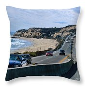 Oc On Pch In Ca Throw Pillow by Jennie Breeze