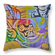 Occupy 4 Peace Throw Pillow by Tony B Conscious