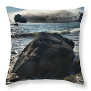 Ocean Boulder Throw Pillow by Adam Jewell