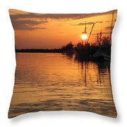 Ocean Sunset 3rd Throw Pillow by Shirley Sirois
