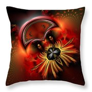 Ocf 199 Fido In Abstract Throw Pillow by Claude McCoy