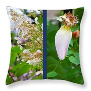 October Throw Pillow by Theresa Tahara