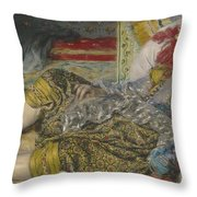 Odalisque Throw Pillow by Pierre Auguste Renoir