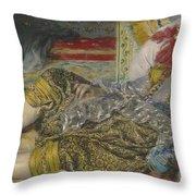 Odalisque Throw Pillow by Pierre Auguste Renoir