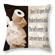 Ode To The Spare Roll Sepia 2 Throw Pillow by Andee Design