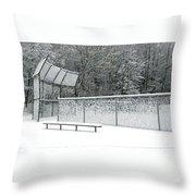 Off Season Throw Pillow by Ann Horn