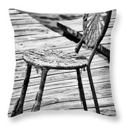Off-Season Grunge Throw Pillow by Christi Kraft