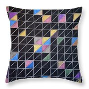 Off The Grid Throw Pillow by Donna Blackhall