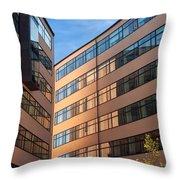 Office Building Malmo Throw Pillow by Antony McAulay